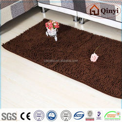 NEW 2013 Fashion New design 100% chenille products anti slip fabric bath mat / Chenille mat-QINYI