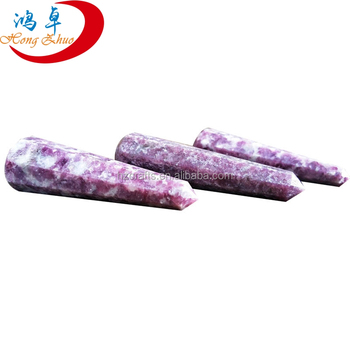 natural lepidolite Quartz Crystal Points Wands/Low-pitched Luxury Natural Crystal column