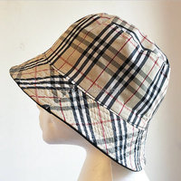 cheap custom reversible bucket hat with zipper pocket wholesale