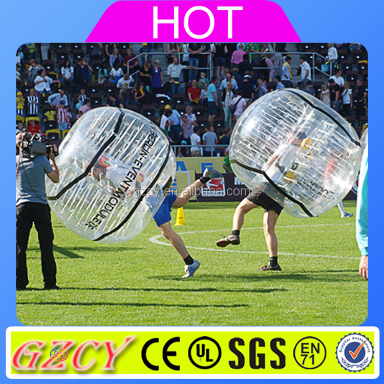 1.0mm TPU/PVC material inflatable Bumper Soccer Ball / Bubble Football
