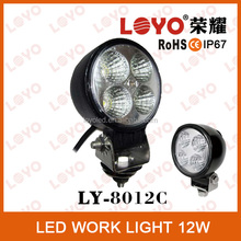 car light led driving light IP67 12V led work lamp, 12W Auto led working lamp