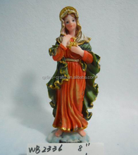 Resin virgin Mary religious statue/ figurine Catholic souvenirs