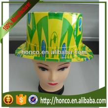 cheap PVC hat/ football fans cap for 2014 Brasil World Cup Brazil