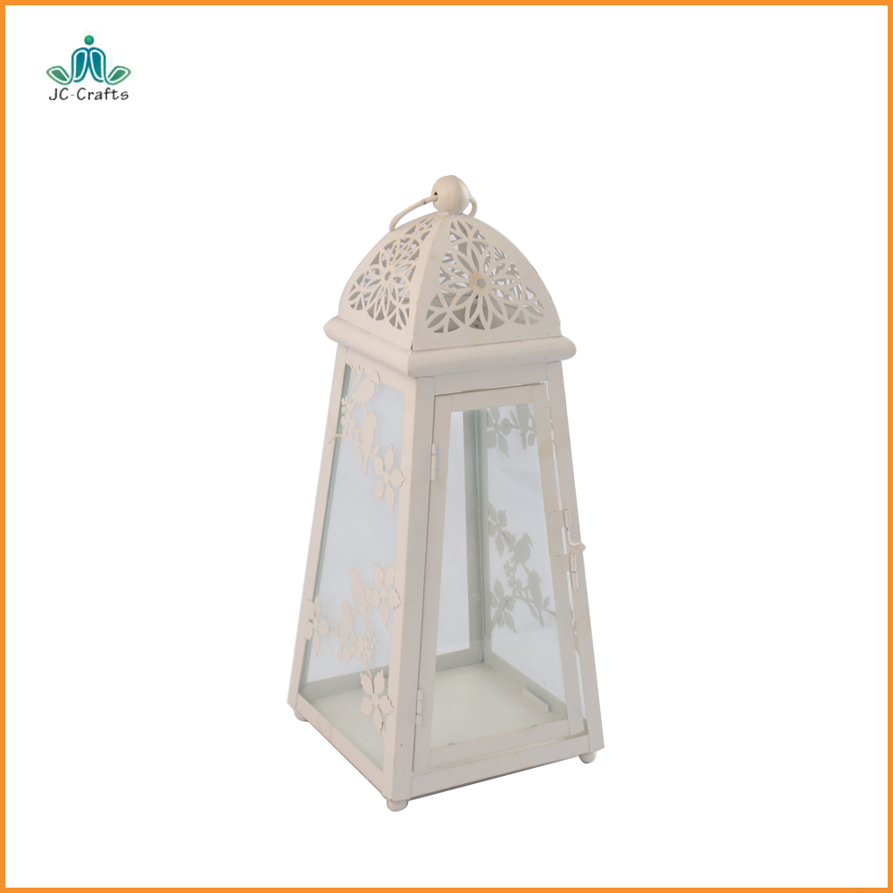Wedding Home Decor table centerpieces craft Vintage white Candle Holders Moroccan European Candlestick Hanging Lantern