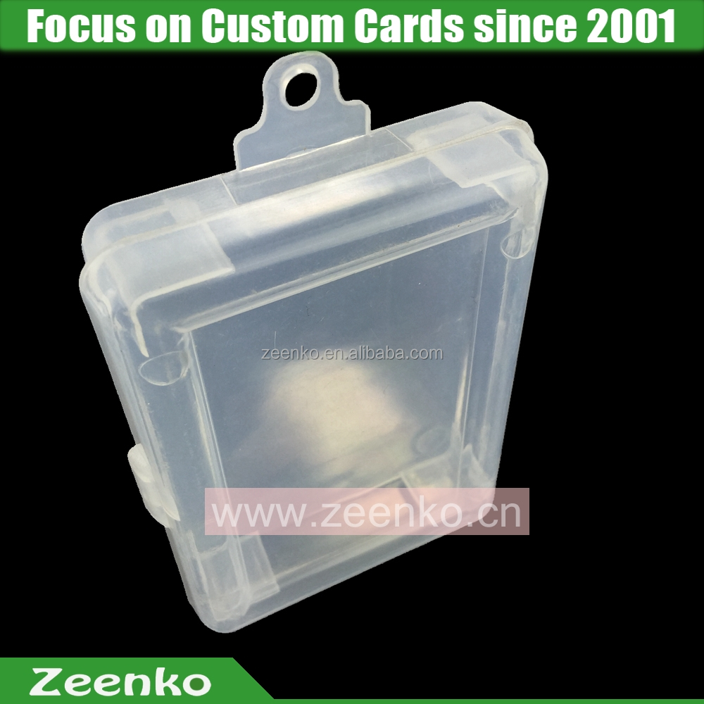 P042 Hot selling custom plastic playing card case playing card print fabric playing card plastic folding box with hanger