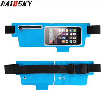Haissky Waterproof Waist Bag Case For iphone 6 6S 5s for Sam S6 S6 edge S5 S4 S3 P8 lite Running Sport Pouch Cover Fundas