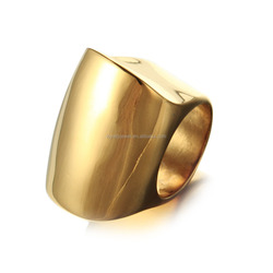 High Quality Fashion stainless Steel Plain Rings