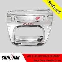 Toyota Hilux Vigo Champ 2012 rear door handle cover chromed kits toyota truck accessories pickup 4x4 accessories cars exterior