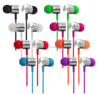 New products 2016 Anti noise ear piece,mp3/mp4/smart mobilephone Universal earphone