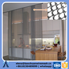 Metal draperies for walls, partition and isolation screens