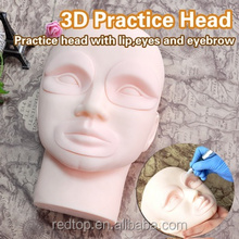 Cosmetic Tattoo Practice Mannequin Head With Removablve Lips And Eyes For PMU Beginner