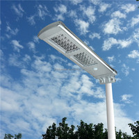 20W EPISTAR LED Chips Solar Street Light With Solar Panel All In One