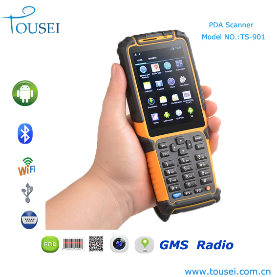Android 4.2 mobile phone 2D barcode laser rfid reader handheld pda device with wifi bluetooth 2g/3g