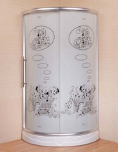 O-J629 Made in China portable sector shower room with cute dogs for sell