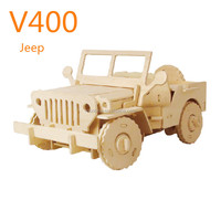 China Supplier Wood 3D Puzzle DIY Toys Car Games