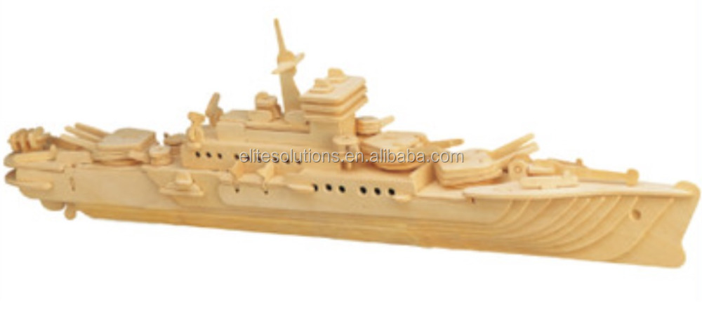 Hot Selling 3D DIY Wooden Toy Puzzle, 3D Puzzle, Boat, Ship Model Puzzle, Cruiser, Wholesale Available