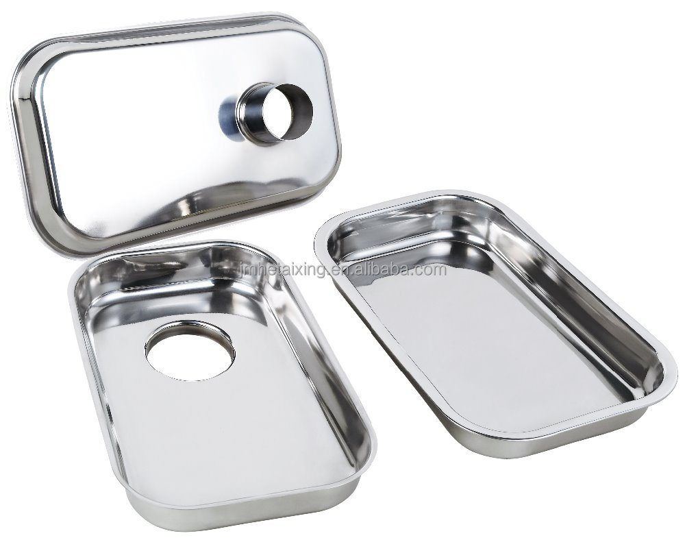 Mirror Polish Stainless Steel Meat Filling Tray for Mincer/ Mangler/ Meat Grinder for Commercial Food Processing Service