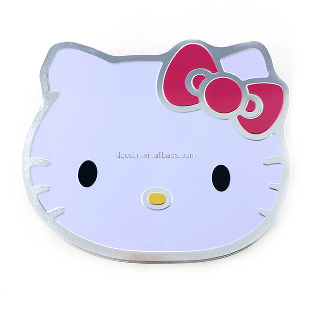 Dongguan cat shape tin box animal shape tin packing candy tin can wholesale