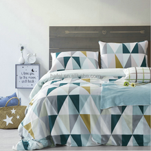 Quilt Cover Geometric Duvet Cover Queen Pillow Case Cotton Bedding Set