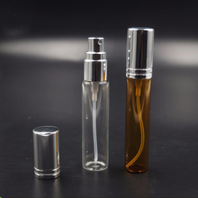2ml 5ml 10ml perfume tester clear glass tube bottle with spray lids