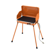 Hot selling easy moving orange and four legs professional barbecue outdoor bbq gas grill