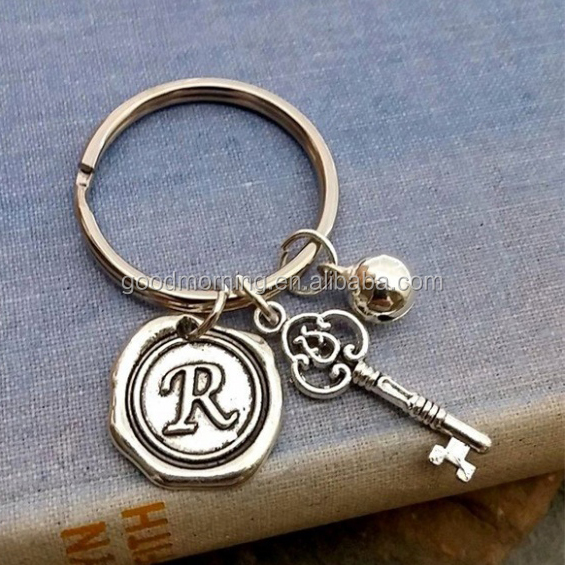 Initial Charms Keychain
