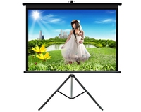 New style OEM mobile outdoor tripod projector screen with best Fiberglass material