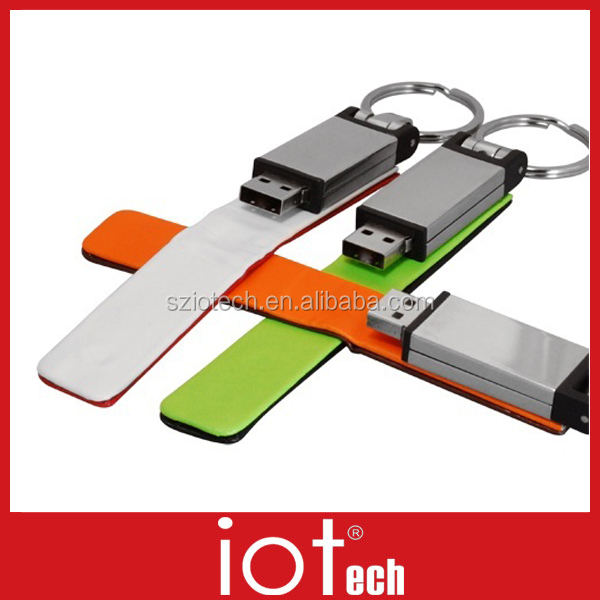 Fashionable High Quality Leather USB Hard Drives in Different Colors