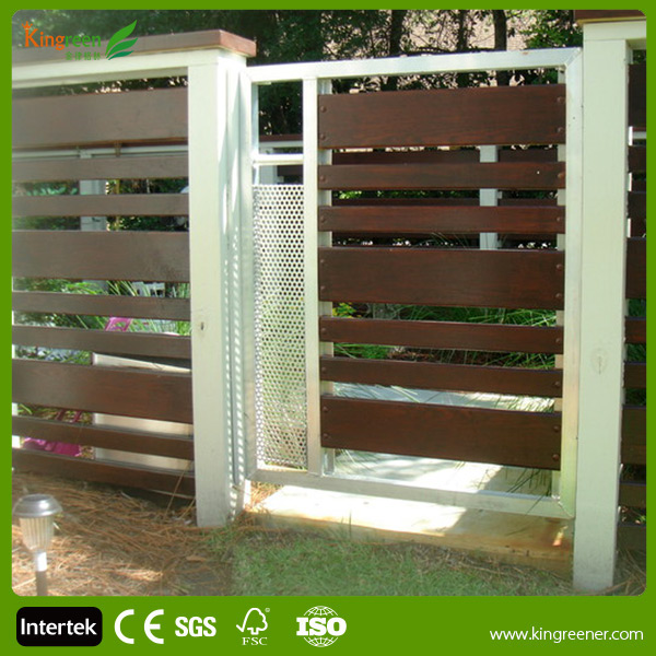 Kingreen Various WPC Wood Plastic Composite Gates and Fence Design