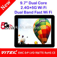 "New 9.7"" RK3066 Android Dual Core 5G Wi Fi 802.11ac Tablet"