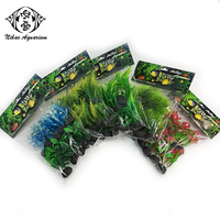 10pcs/pack small size green plants fake tree simulation grass for desktop aquarium fish tank