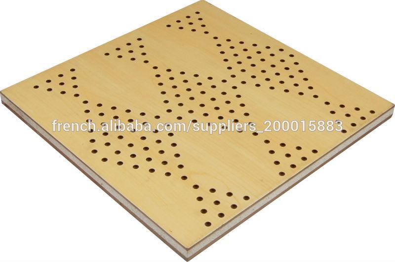 Panneau acoustique perforé en bois Panneaux insonorisants ID de produit 500002584334 french  # Panneau Bois Perforé Acoustique