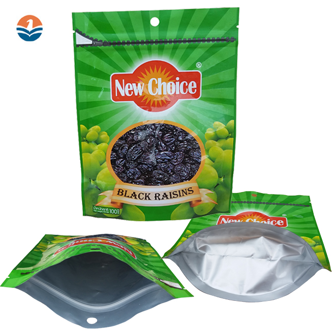 Custom Printed Food Packaging Plastic Bag Biodegradable, Stand Up Pouch Plstic Bag with Ziplock