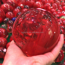 Cheap mini polished melting stone glass crystal ball fake crystal sphere for sale