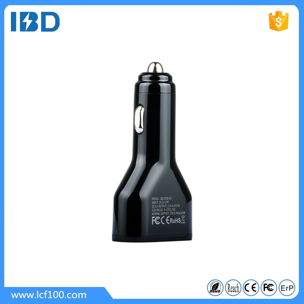 IBD Best quality 12v 2a Micro usb intelligent car battery Charger for mobile and car charging with qualcomm QC3.0 technology