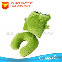 Tablet Cushion EPS Beads Transform Ipad Pillow Car Holder 2 In 1 Tablet Pillow Plush Frog Ipad Convert Cushion