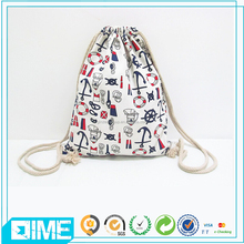 Wholesale Handmade Floral Printed Cotton Drawstring Bag