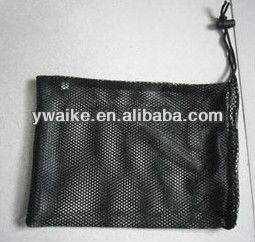 black mesh bag/ golf sport bag/ drawstring bag with plastic locker