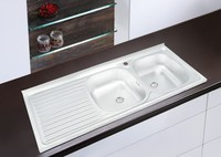 1200*500mm XAL12050 double bowl stainless steel sink satin mat or polish finish for south america