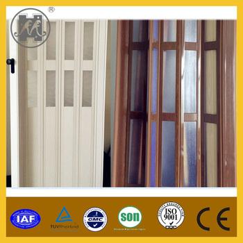 Fashionable PVC sliding door plastic folding door acrylic design ...