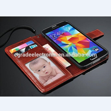 Luxury PU Leather Wallet Flip Cover Stand wholesale cell phone case For Samsung Galaxy S5 i9600