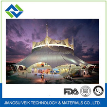 Roof fabric shade structures ptfe tensile membrane