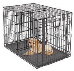 Well-suited custom metal dog cage for supermarket