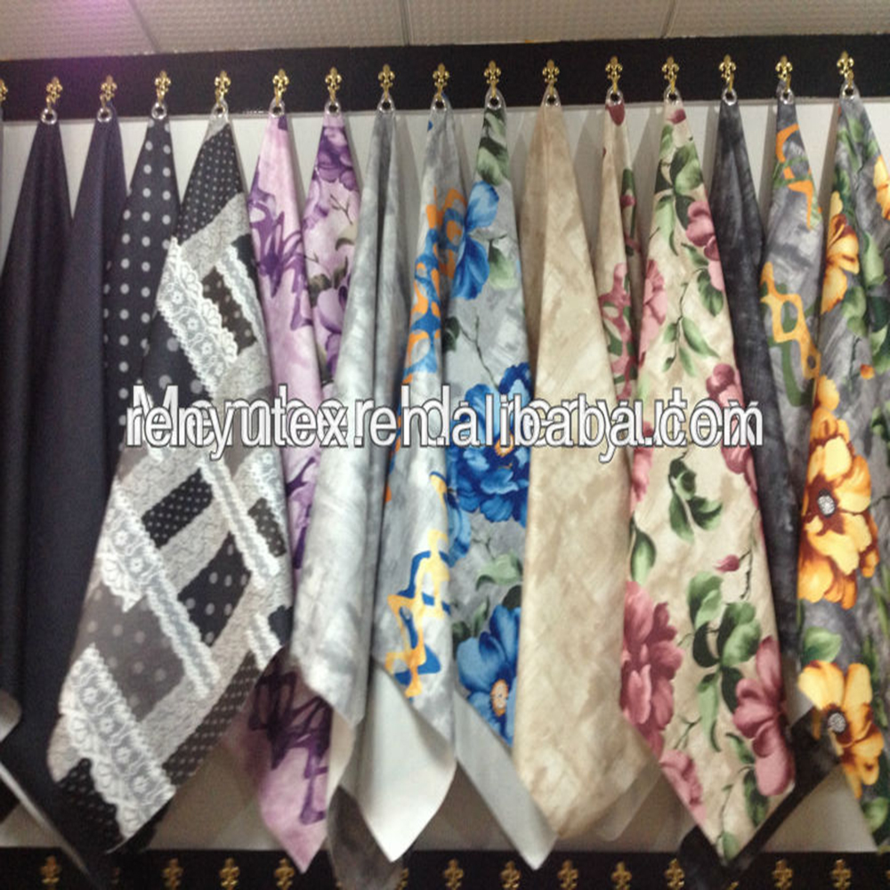 China new product hot sale different types of floral chiffon fabric