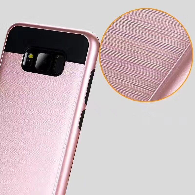 2017 new arrival TPU PC Metallic Slim Armor Case for samsung galaxy s8 Plus Hybrid cell phone case for s8 plus