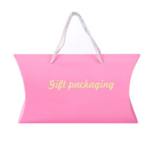 Personlised hot pink cardboard large pillow gift boxes