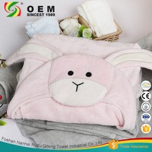 OEM accepted animal hooded bamboo fiber towels for kids