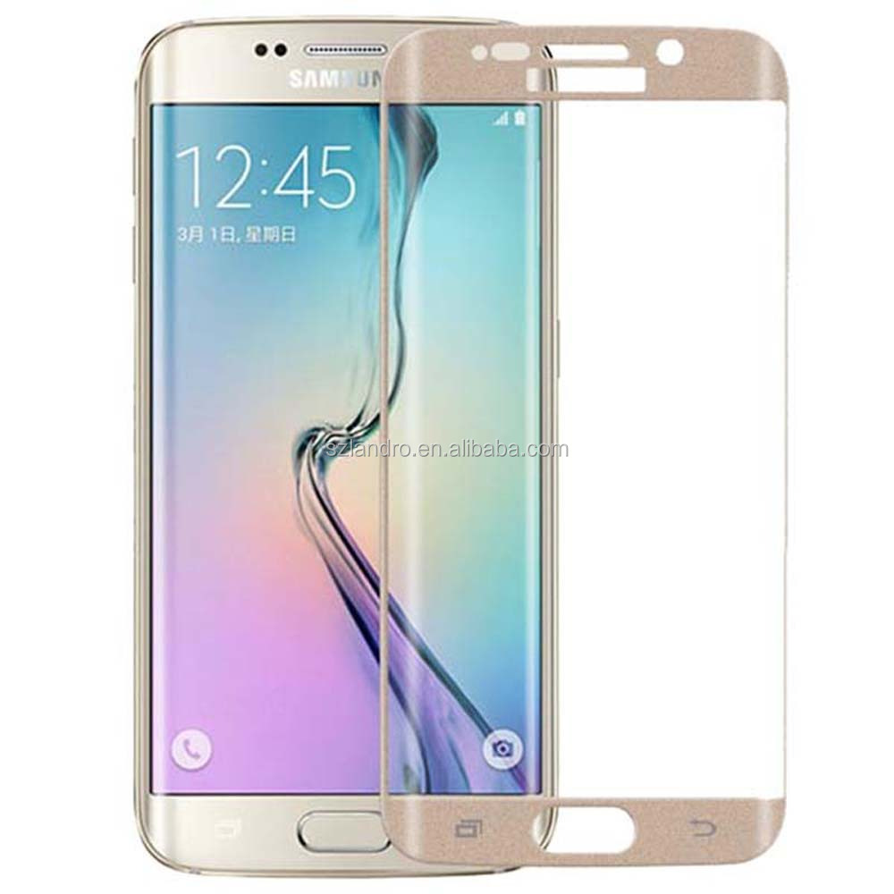 Mobile phone accessory 3D full cover tempered glass screen protector for Samsung s6 edge