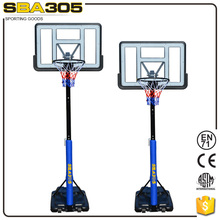 portable and height adjustable basketball system