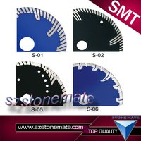 Circular oscillating lapidary diamond saw blades